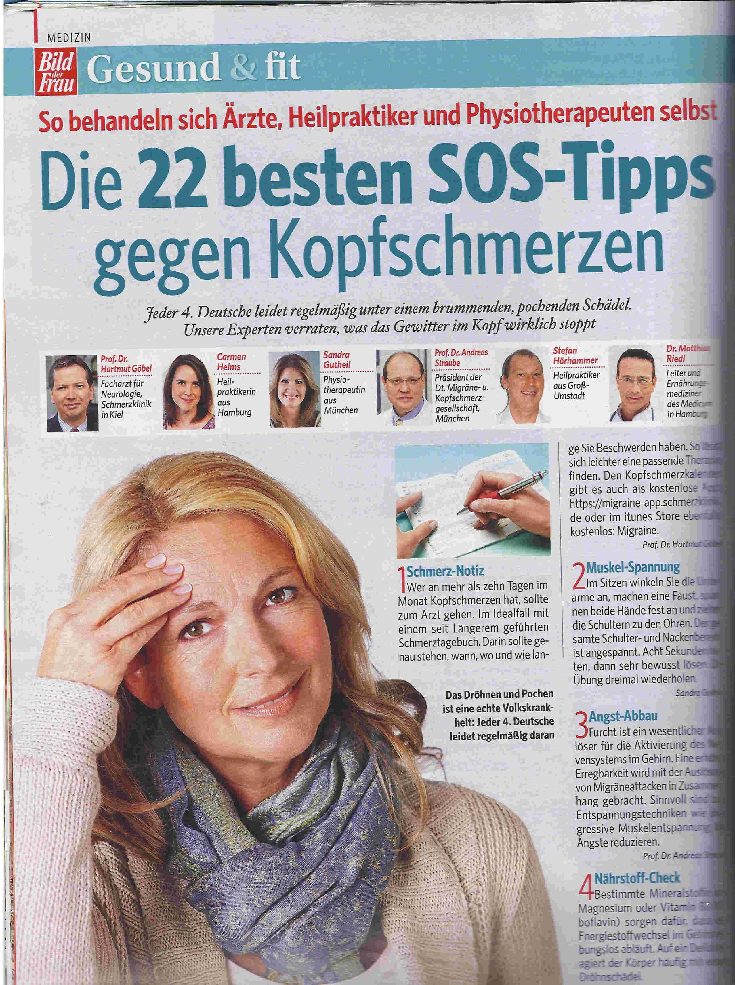 Heilpraktikerin Carmen Helms Kopfschmerzen Bild der Frau